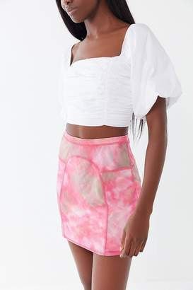 Urban Outfitters Every Morning Tie-Dye Mesh Mini Skirt