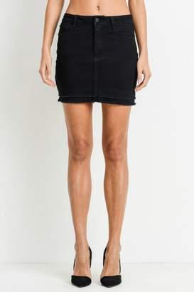 Black Label Black Layered Skirt