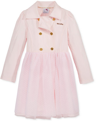 Hello Kitty Trench Coat Tutu Dress, Toddler Girls (2T-5T) & Little Girls (2-6X) $60 thestylecure.com