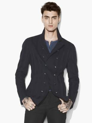 John Varvatos Jacquard Striped Double Breasted Jacket