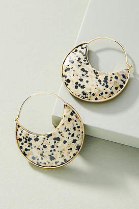 Anthropologie Luna Crescent Hoop Earrings