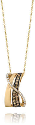 LeVian CORP Grand Sample Sale by Le Vian 3/8 CT. T.W. Vanilla Diamonds and Chocolate Diamonds Pendant in 14K Honey Gold