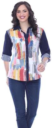 Parsley & Sage Colorful Button-Up Shirt