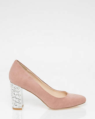 Le Château Jewel Embellished Block Heel Pump