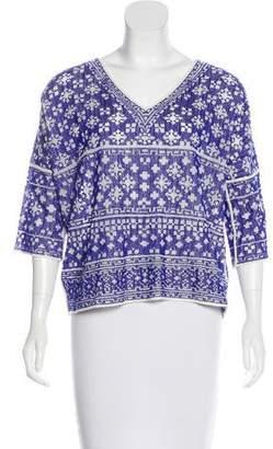 Etoile Isabel Marant Embroidered Short Sleeve Top