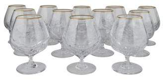Faberge Set of 12 Aurora Brandy Snifters