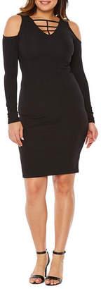 Bold Elements Long Sleeve Leopard Bodycon Dress