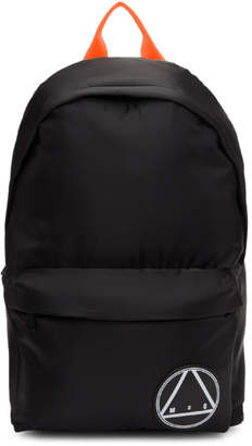 McQ Black Oversized Glyph Backpack