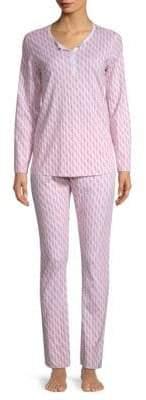 Roller Rabbit Neapolitan Archipelago Two-Piece Horse-Print Cotton Pajamas Set