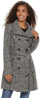 Blend of America Lnr Fashion Styles Women's LNR Fashion Styles Double-Breasted Wool Coat