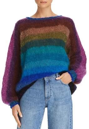 Rose Carmine Rainbow Stripe Sweater - 100% Exclusive