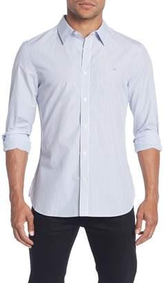 Calvin Klein Striped Extra-Fine Long Sleeve Slim Fit Shirt