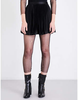 Anna Sui Distressed fishnet leggings