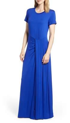 Caslon Front Gathered Maxi Dress