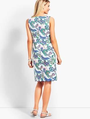 Talbots Paisley Scallop-Hem Sheath Dress