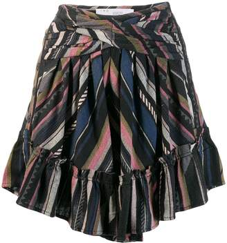 IRO striped mini skirt