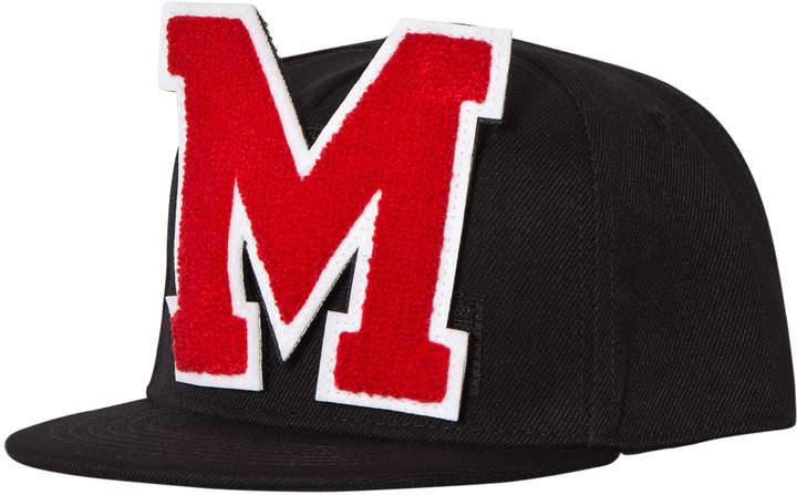 Msgm Black Logo Baseball Cap with Detachable M