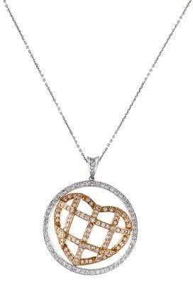Diamond Heart Cage Pendant Necklace