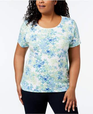 Karen Scott Plus Size Printed T-Shirt, Created for Macy's