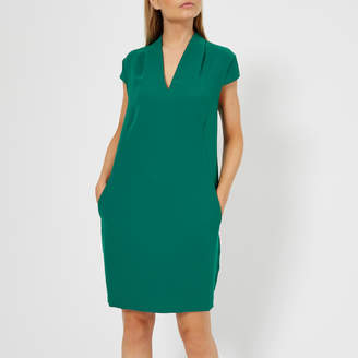 Whistles Women's Paige V Neck Crepe Dress