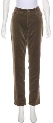 Loro Piana Velvet Mid-Rise Pants Brown Velvet Mid-Rise Pants