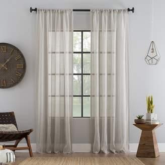 Archaeo Ticking Stripe Textured Sheer Window Curtain