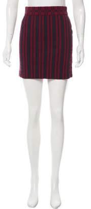Tanya Taylor Knit Striped Mini Skirt w/ Tags