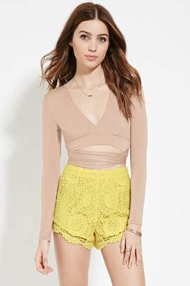 Forever 21 Crochet Shorts