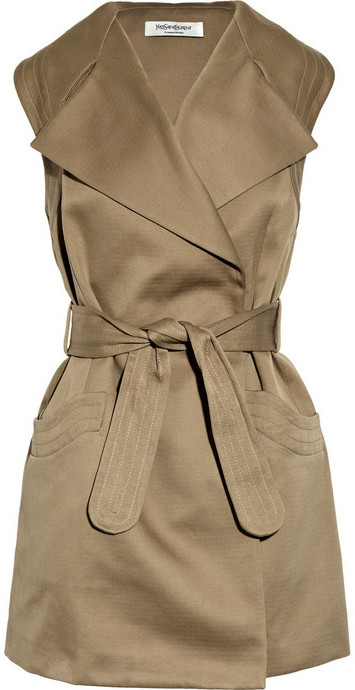 Yves Saint Laurent Cotton-gabardine trench dress