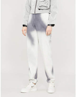 Off-White Spray straight-leg cotton-jersey jogging bottoms
