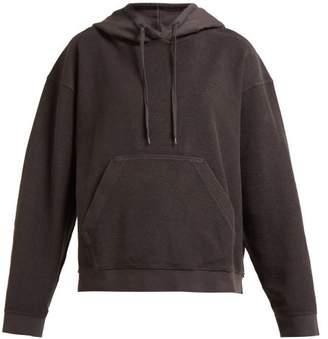 Acne Studios Loop Back Cotton Hooded Sweatshirt - Womens - Dark Grey