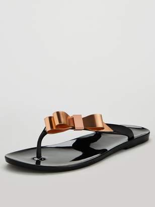 9b71180e80a2 Ted Baker Black Bow Shoes - ShopStyle UK