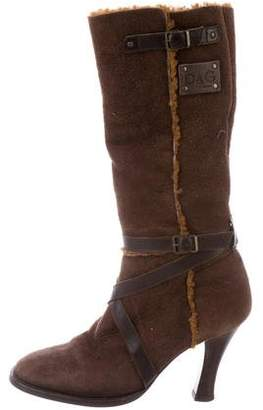 Dolce & Gabbana Suede Knee-High Boots