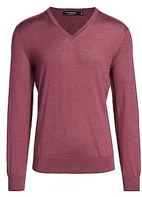 Ermenegildo Zegna Men's Cashmere & Silk V-Neck Sweater