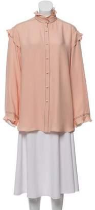 Derek Lam Silk Button-Up Blouse