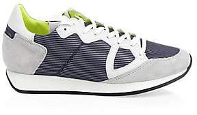 Philippe Model Men's Monaco Leather Mesh Sneakers