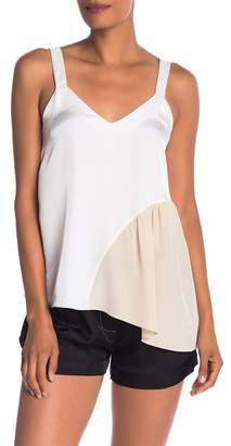 Tibi Colorblock Shirred Cami