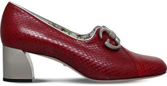 Gucci Biba snake-effect leather pumps