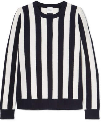 Madeleine Thompson Carinae Striped Cashmere Sweater - Navy