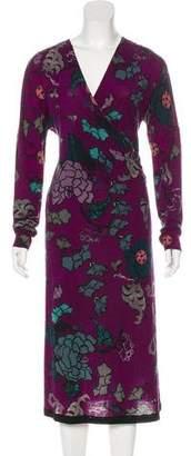 Etro Long Sleeve Floral Dress