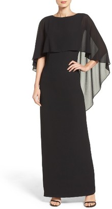 Women's Vince Camuto Cape Overlay Gown $168 thestylecure.com