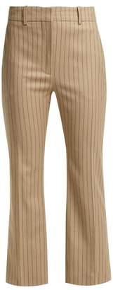 Altuzarra Adler Wool Blend Kick Flare Trousers - Womens - Beige Stripe