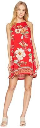 Angie Strappy Print Knit Dress Women's Dress