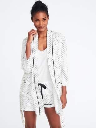 Old Navy Soft-Twill Tie-Belt Robe for Women