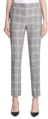 Donna Karan Plaid Skinny Pants