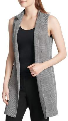 Calvin Klein Glen Plaid Long Blazer Vest