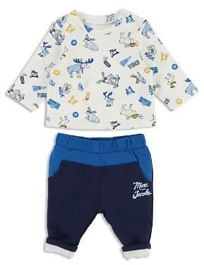 Little Marc Jacobs Boys' Moose-Print Tee & Jogger Pants Set - Baby