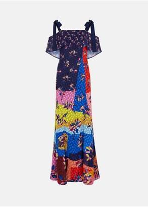 Mary Katrantzou Canasta Dress Cubism Flower