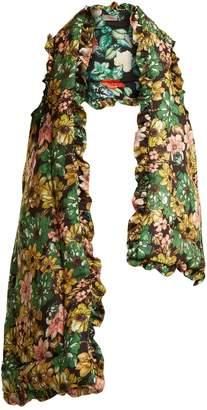Preen by Thornton Bregazzi Posey floral-print silk-charmeuse gilet