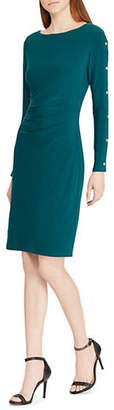 Lauren Ralph Lauren Long-Sleeve Stretch Jersey Midi Dress
